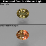 thumb image of 0.6ct Oval Facet Green to Red-Pink Color-Change Garnet (ID: 444669)