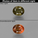 thumb image of 0.7ct Oval Facet Green to Red-Pink Color-Change Garnet (ID: 444671)