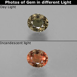 thumb image of 0.5ct Oval Facet Green to Red-Pink Color-Change Garnet (ID: 444673)