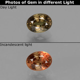 thumb image of 0.8ct Oval Facet Green to Red-Pink Color-Change Garnet (ID: 444674)