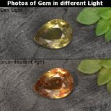 thumb image of 0.5ct Pear Facet Greenish Brown To Red Pink Color-Change Garnet (ID: 468451)
