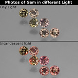 thumb image of 1.5ct Round Facet Multicolor Color-Change Sapphire (ID: 403769)