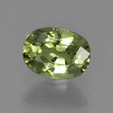 thumb image of 0.5ct Oval Facet Golden Green Demantoid Garnet (ID: 235056)
