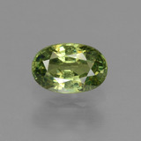 thumb image of 0.7ct Oval Facet Golden Green Demantoid Garnet (ID: 237988)