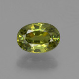 thumb image of 0.7ct Oval Facet Golden Green Demantoid Garnet (ID: 249177)