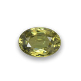 thumb image of 0.6ct Oval Facet Golden Green Demantoid Garnet (ID: 276499)