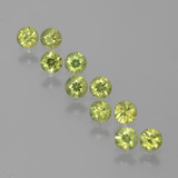 thumb image of 1.9ct Diamond-Cut Golden Green Demantoid Garnet (ID: 385438)