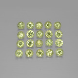 thumb image of 2.4ct Diamond-Cut Golden Green Demantoid Garnet (ID: 385523)