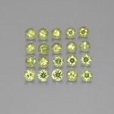 thumb image of 2.4ct Diamond-Cut Golden Green Demantoid Garnet (ID: 385531)
