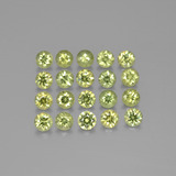 thumb image of 2.5ct Diamond-Cut Golden Green Demantoid Garnet (ID: 385533)