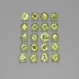 thumb image of 2.9ct Diamond-Cut Golden Green Demantoid Garnet (ID: 385534)