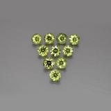 thumb image of 2ct Diamond-Cut Golden Green Demantoid Garnet (ID: 385596)