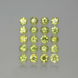 thumb image of 2.9ct Diamond-Cut Golden Green Demantoid Garnet (ID: 385638)