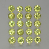 0.16 ct Diamond-Cut Golden Green Demantoid Garnet Gem 3.21 mm  (Photo B)