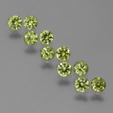 thumb image of 1.4ct Diamond-Cut Golden Green Demantoid Garnet (ID: 386239)