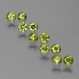 thumb image of 1.5ct Diamond-Cut Golden Green Demantoid Garnet (ID: 386241)