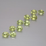 thumb image of 2.1ct Oval Facet Golden Green Demantoid Garnet (ID: 387507)