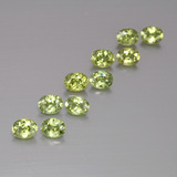 thumb image of 2.1ct Oval Facet Golden Green Demantoid Garnet (ID: 387700)