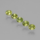 thumb image of 0.9ct Oval Facet Golden Green Demantoid Garnet (ID: 387789)