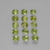thumb image of 3ct Oval Facet Golden Green Demantoid Garnet (ID: 387796)