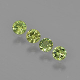 thumb image of 0.7ct Diamond-Cut Golden Green Demantoid Garnet (ID: 403605)
