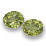 thumb image of 1ct Oval Facet Golden Green Demantoid Garnet (ID: 458150)