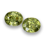 thumb image of 0.9ct Oval Facet Golden Green Demantoid Garnet (ID: 458151)