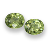 thumb image of 0.9ct Oval Facet Golden Green Demantoid Garnet (ID: 458154)