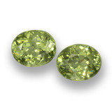 thumb image of 1.1ct Oval Facet Golden Green Demantoid Garnet (ID: 458156)