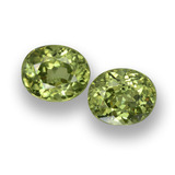 thumb image of 0.9ct Oval Facet Golden Green Demantoid Garnet (ID: 458157)