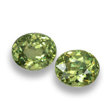 thumb image of 1.1ct Oval Facet Golden Green Demantoid Garnet (ID: 458158)