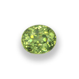 thumb image of 0.6ct Oval Facet Golden Green Demantoid Garnet (ID: 458205)