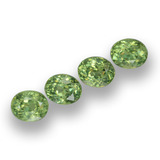 thumb image of 0.4ct Oval Facet Golden Green Demantoid Garnet (ID: 458239)