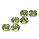 thumb image of 1.7ct Oval Facet Golden Green Demantoid Garnet (ID: 458257)