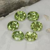 thumb image of 2.2ct Oval Facet Golden Green Demantoid Garnet (ID: 458261)