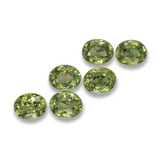 thumb image of 2ct Oval Facet Golden Green Demantoid Garnet (ID: 458262)
