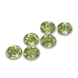 thumb image of 2ct Oval Facet Golden Green Demantoid Garnet (ID: 458266)