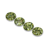 thumb image of 1.2ct Oval Facet Golden Green Demantoid Garnet (ID: 458281)