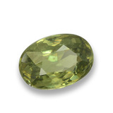 0.69 ct Oval Facet Golden Green Demantoid Garnet Gem 6.03 mm x 4.2 mm (Photo B)