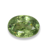 thumb image of 0.6ct Oval Facet Green Demantoid Garnet (ID: 458315)