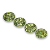 thumb image of 1.7ct Oval Facet Golden Green Demantoid Garnet (ID: 458342)