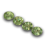thumb image of 1.2ct Oval Facet Golden Green Demantoid Garnet (ID: 458403)