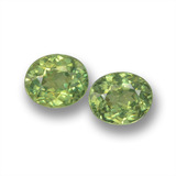 thumb image of 1ct Oval Facet Golden Green Demantoid Garnet (ID: 458555)