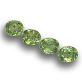 thumb image of 1.7ct Oval Facet Golden Green Demantoid Garnet (ID: 458599)