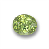thumb image of 0.5ct Oval Facet Golden Green Demantoid Garnet (ID: 458636)
