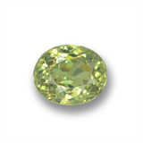 thumb image of 0.5ct Oval Facet Golden Green Demantoid Garnet (ID: 458640)