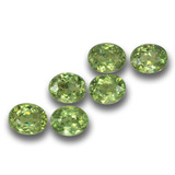 thumb image of 2ct Oval Facet Golden Green Demantoid Garnet (ID: 458680)