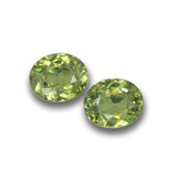 thumb image of 0.9ct Oval Facet Golden Green Demantoid Garnet (ID: 458683)