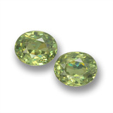 thumb image of 0.9ct Oval Facet Green Demantoid Garnet (ID: 458746)