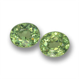 thumb image of 1ct Oval Facet Green Demantoid Garnet (ID: 458747)